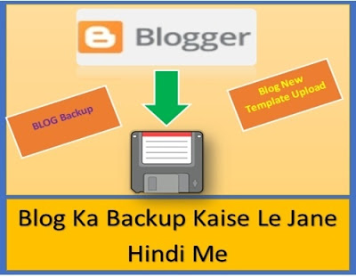 Apne Blog ka backup kaise le jane hindi me
