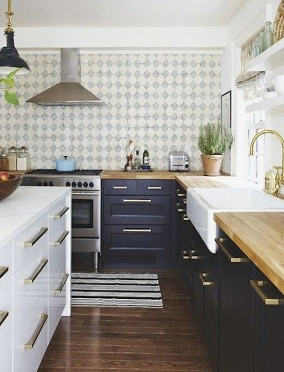 Fotos de cozinhas azul escuro  Decorao e Ideias