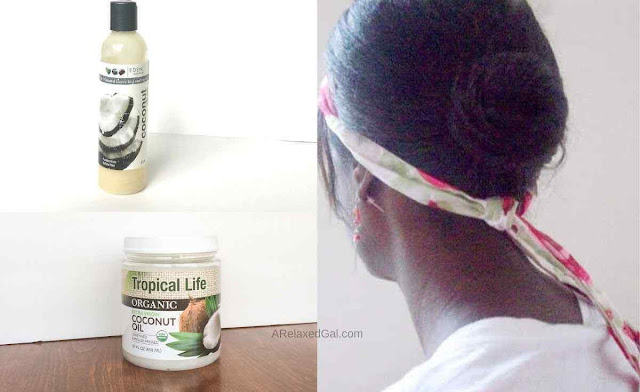 Pre-pooing relaxed hair with coconut oil | A Relaxed Gal