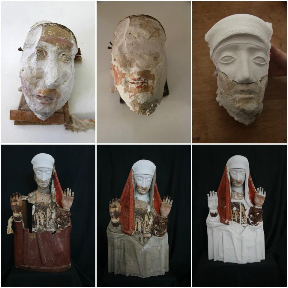 Evolución de la restauración de María Magdalena