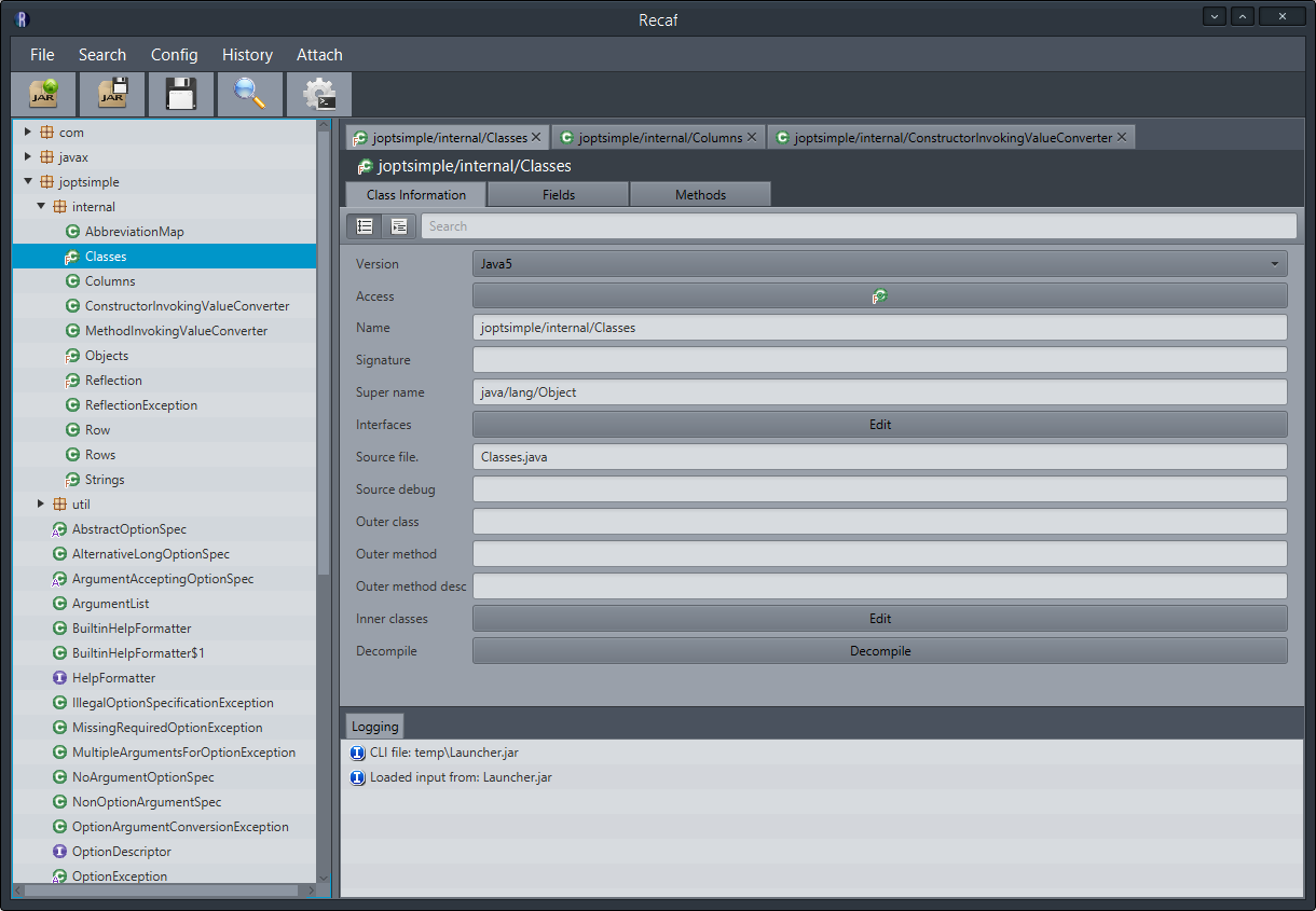 Recaf - A Modern Java Bytecode Editor