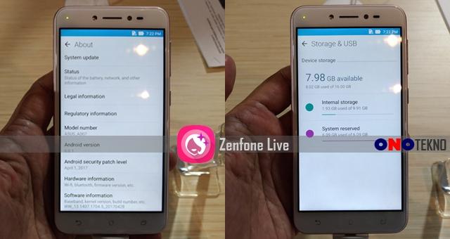 Hands On Asus Zenfone Live
