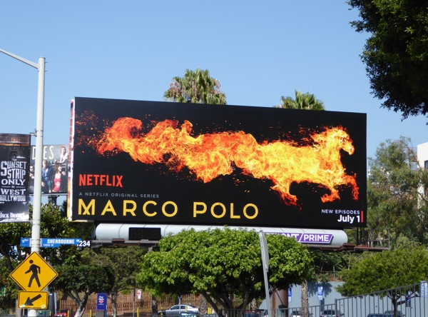 Marco Polo season 2 fire horse billboard