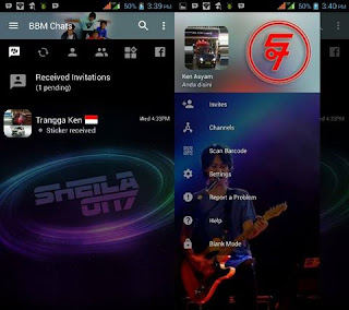 BBM MOD Sheila On 7 v3.2.0.6 APK Transparan Theme