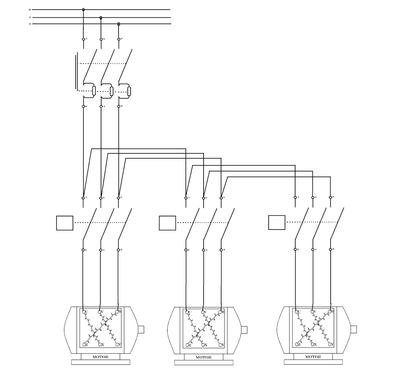 Sistem kontrol motor Listrik 3 fasa hidup mati berurutan | Wijdan ...