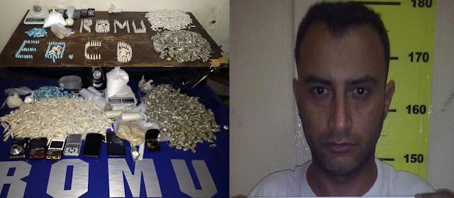 ROMU de Cotia estoura laboratório de drogas na região do bairro Miguel Mirizola um elemento acaba detido