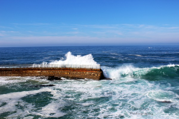 Breaker Wall Point Mencinger Children's Cove San Diego California Ocean Waves