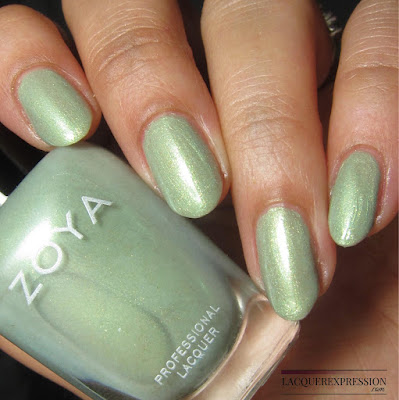 swatch of Lacey from the Zoya Charming Spring 2017 nail polish collection