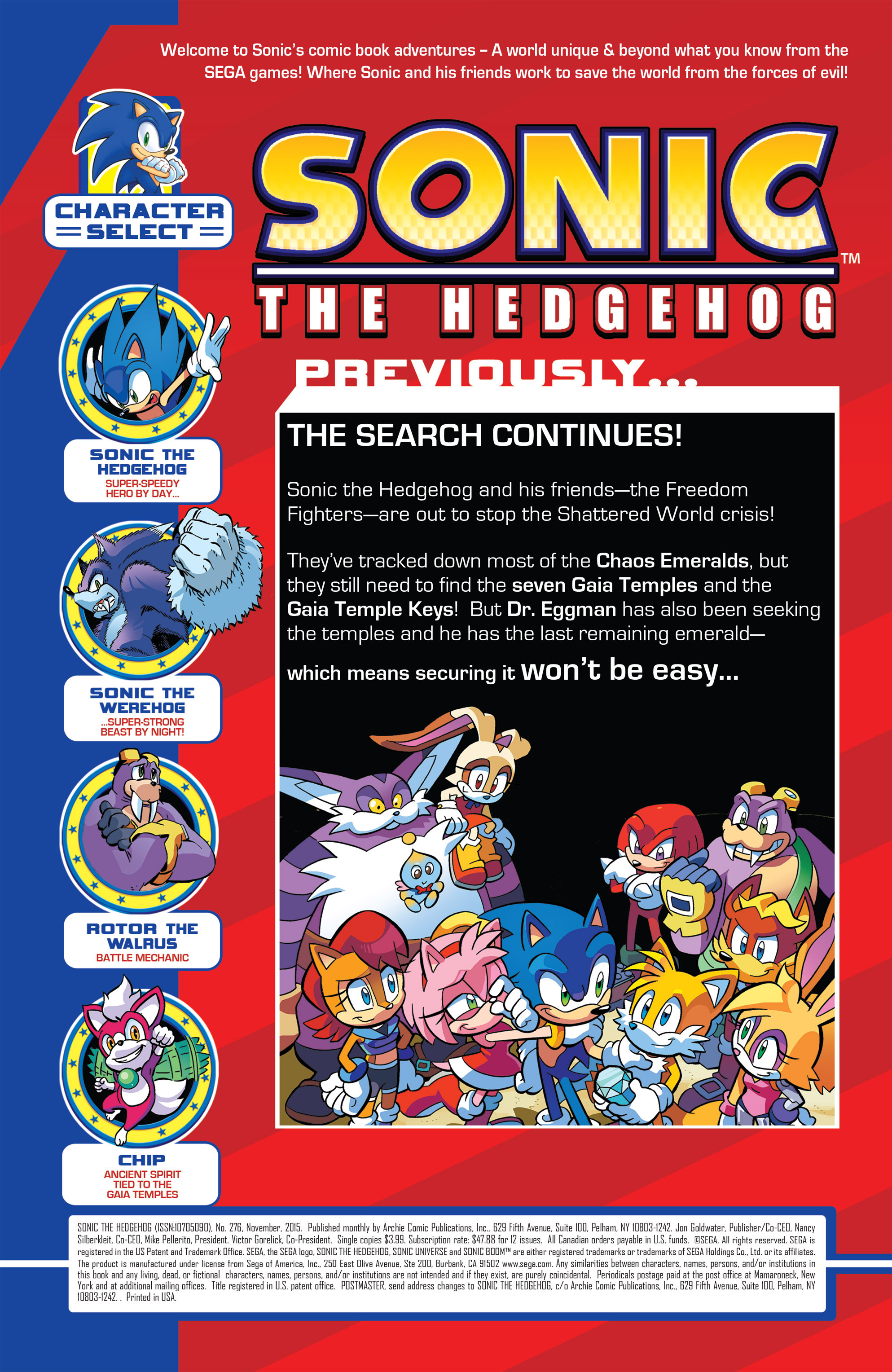 Read online Sonic The Hedgehog comic -  Issue #276 - 2