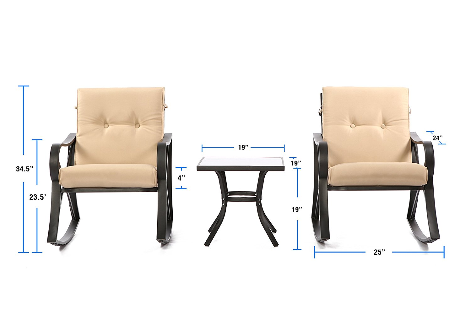 Luxury Furniture Review: OUTROAD 3 Piece Patio Set- All
