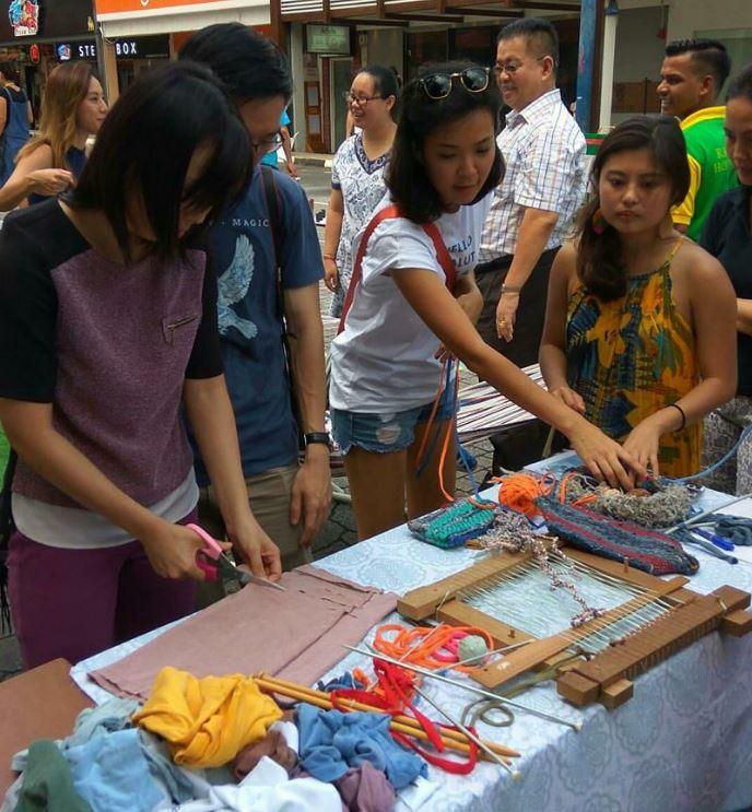 Upcycling workshop with Agy at Sustainability Sunday