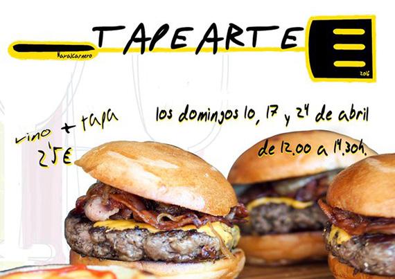 Concurso de tapas de autor 'Tapearte' en Navalcarnero, domingos 10, 17 y 24 de abril