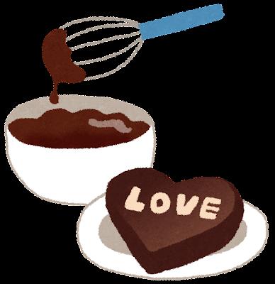 手作りチョコレートのイラスト