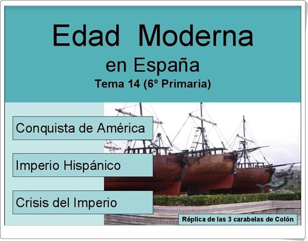 """""""Edad Moderna en España"""" (Presentación de Historia de Primaria)"""