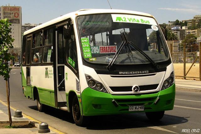 Como ir de Viña del Mar à Valparaíso de ônibus público