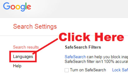 how to change google search engine language in chrome