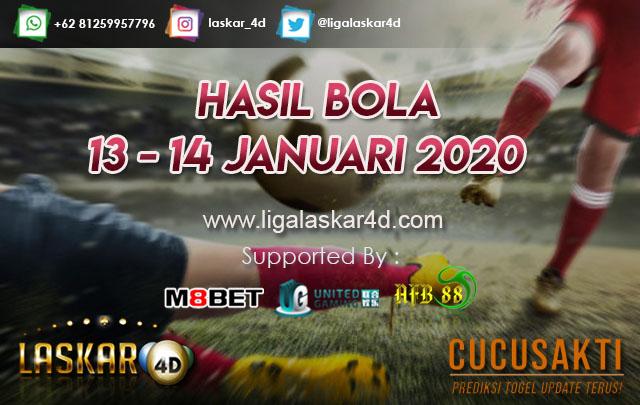 HASIL BOLA JITU TANGGAL 13 – 14 JANUARI 2020