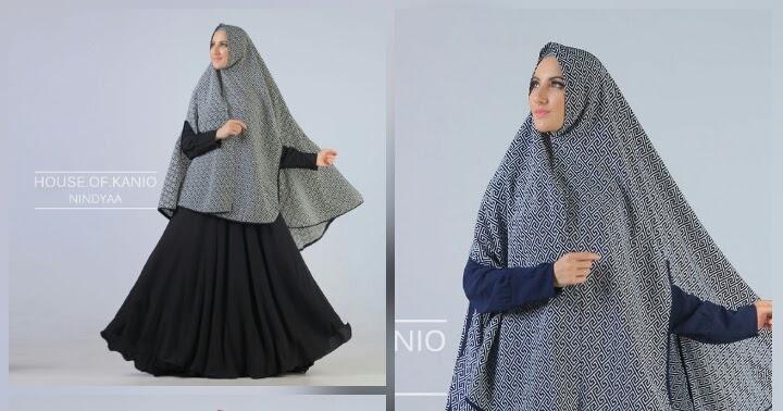 Jual Baju Hijab Hitam Nindya Syar By Kanio