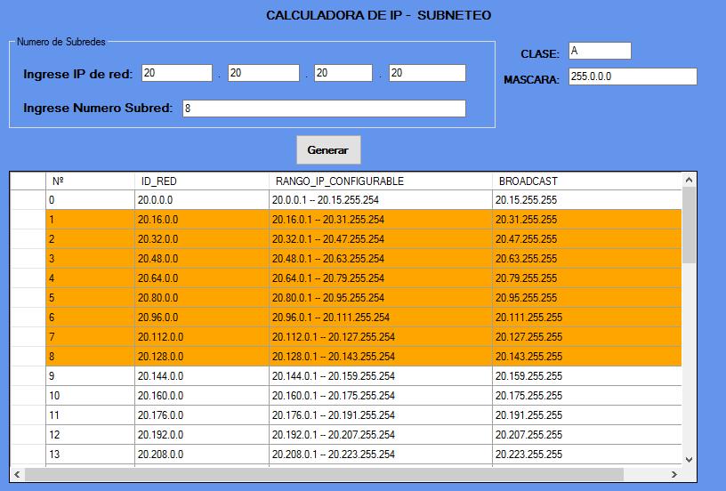 calculadora de subredes ip subneteo redes hosts ip