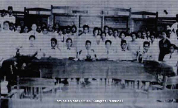 Foto salah satu situasi Kongres Pemuda I