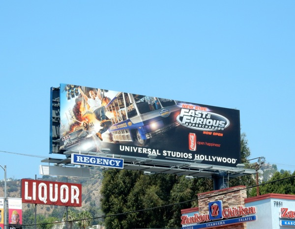 Fast Furious Supercharged ride billboard