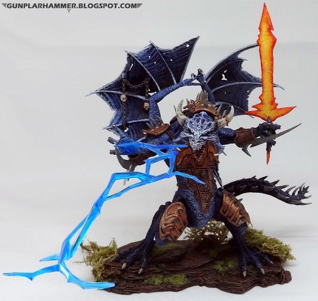 Dragon du Chaos lançant des éclairs