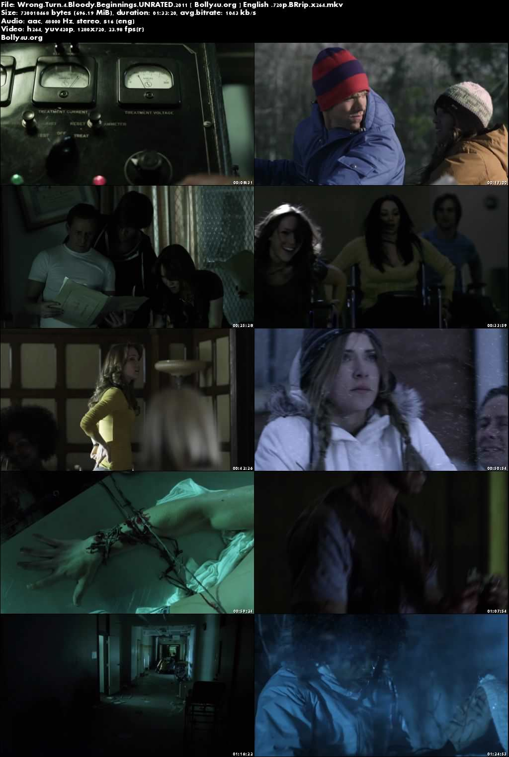 Wrong Turn 4 Bloody Beginnings 2011 BRRip 280Mb UNRATED English 480p Download