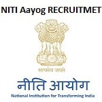 Niti Aayog Monitoring & Evaluation Lead Recruitment 2019