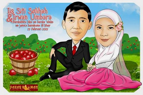 Cara Membuat Undangan Pernikahan Karikatur Lucu & Unik dengan Chumie Creative