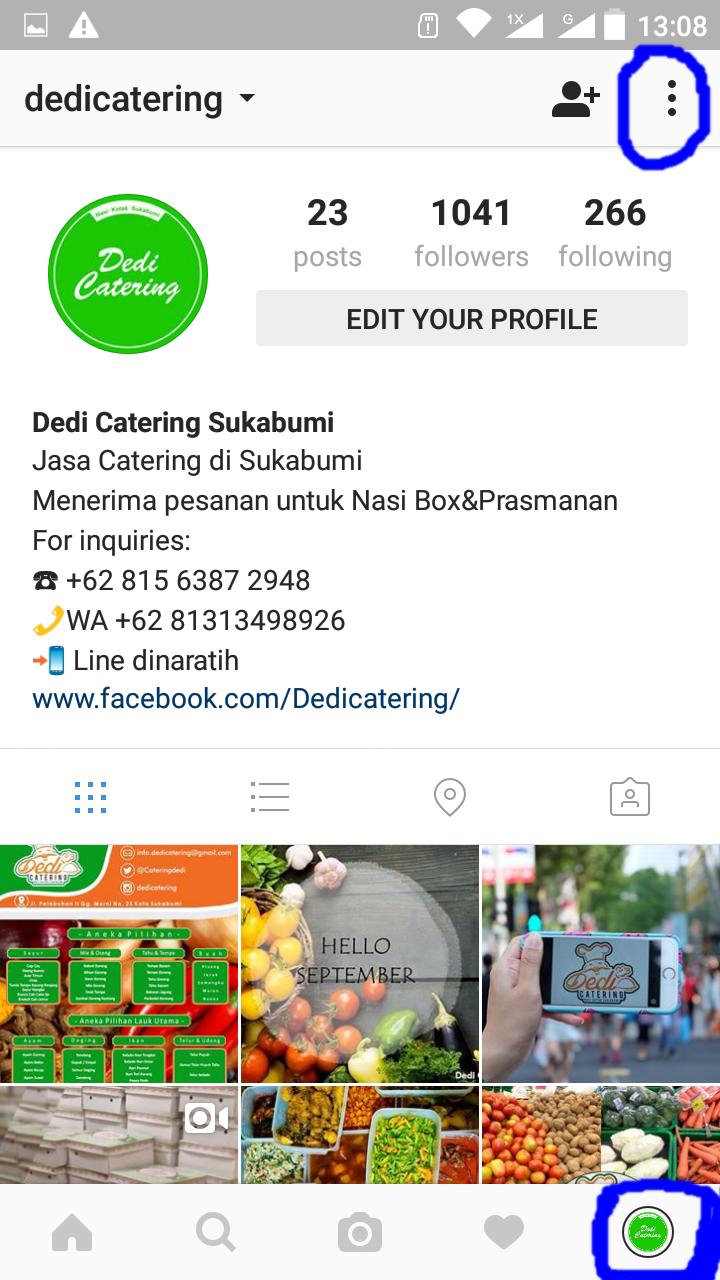 profil bisnis di instagram