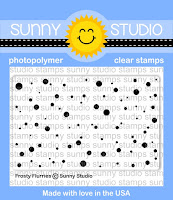Sunny Studio Stamps: Frosty Flurries Snow Mini 2x3 Background Stamp Set