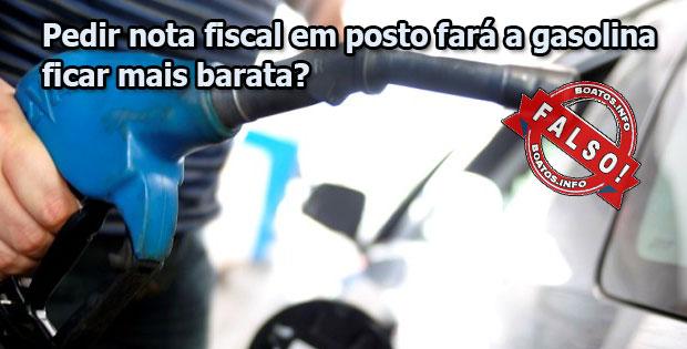 Pedir nota fiscal em posto fará a gasolina ficar mais barata?