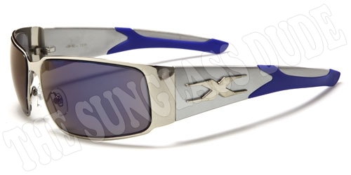 1af50bea9ec X-LOOP METAL SPORTS DESIGNER SUNGLASSES SHADES NEW MEN WOMEN SILVER BLUE  XL4281