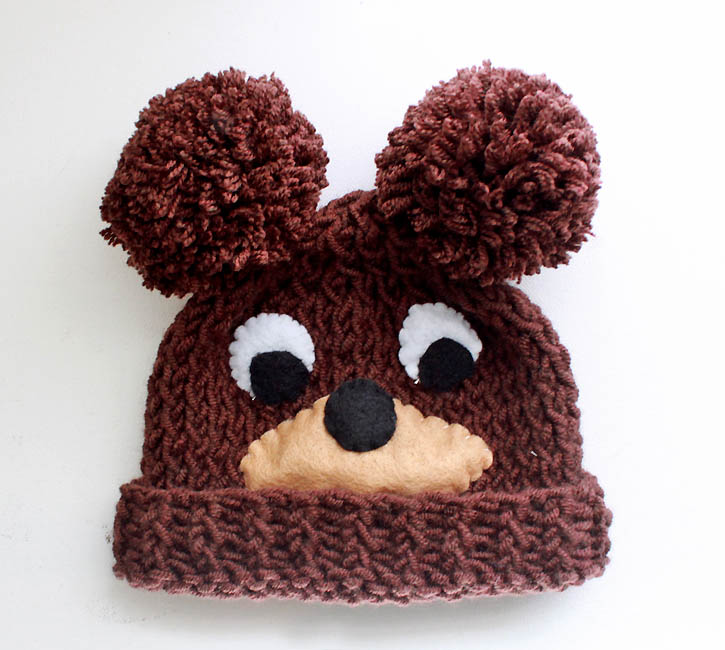 Free Knitting Pattern Hat With Ears : Baby Bear Hat [knitting pattern] - Gina Michele