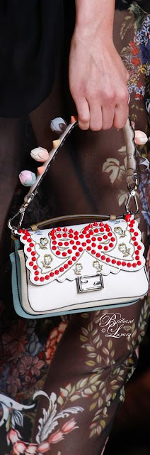 Brilliant Luxury ♦ Fendi Double Micro Studded Leather Baguette Bag