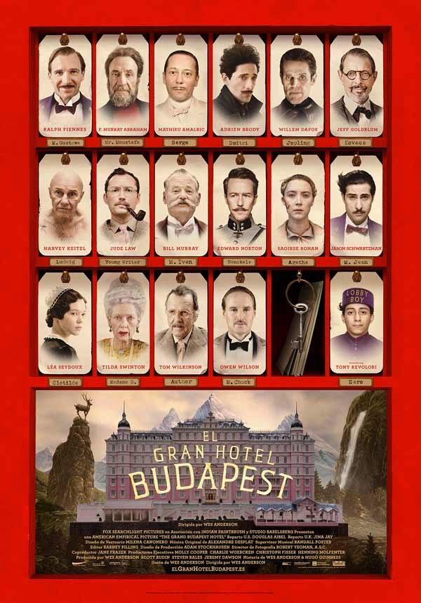 """""""El Gran Hotel Budapest"""" (Wes Anderson, 2014)"""