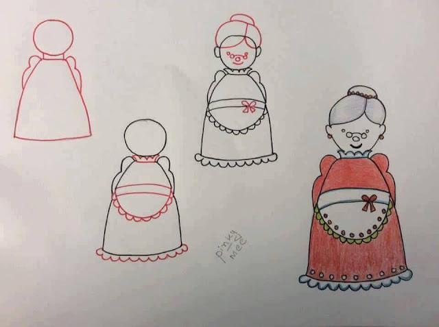 Belajar menggambar tokoh kartun untuk anak-anak 4