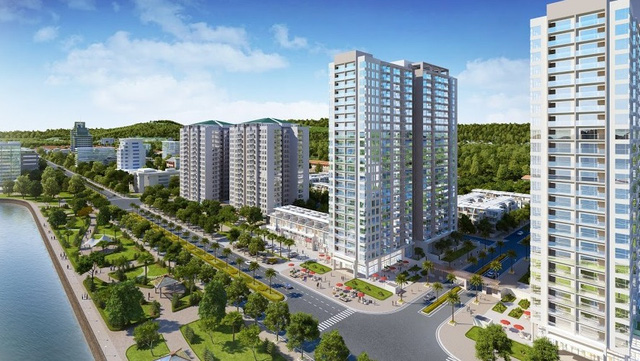 Phối cảnh tổng quan dự án chung cư Green Bay Premium
