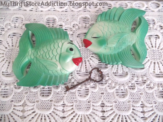 Vintage chalkware fish