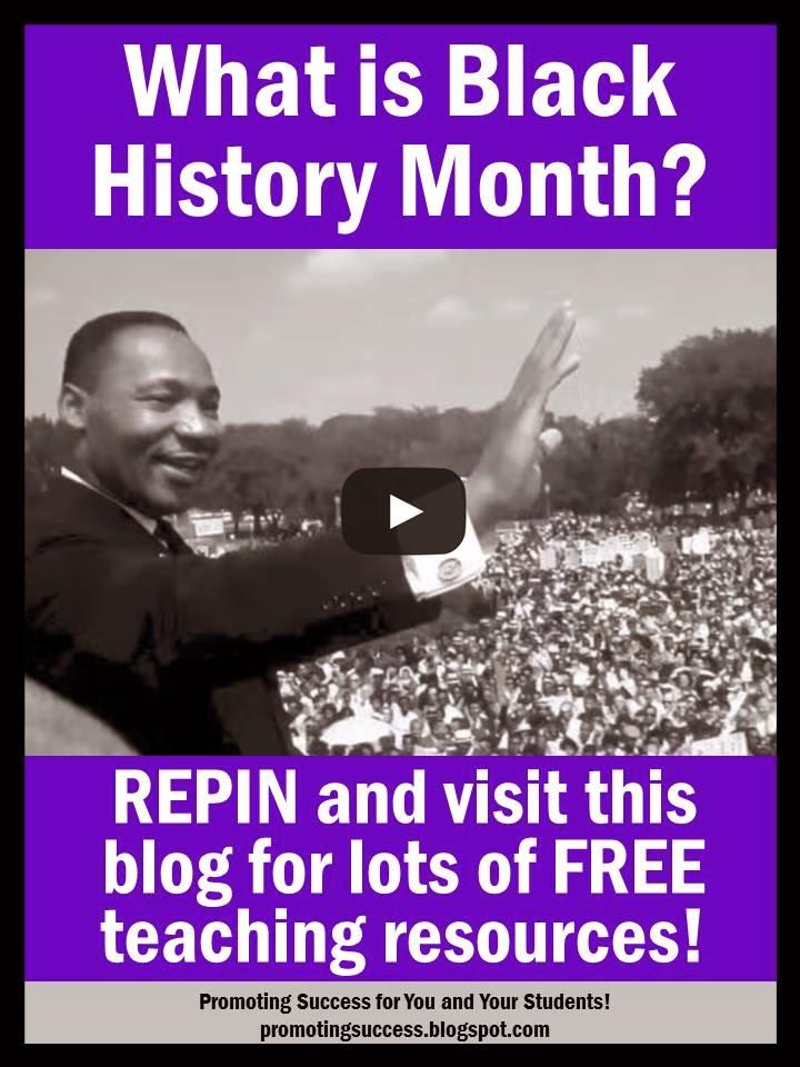 Black History In America On Pinterest: Martin Luther King Jr Teachers Pay Teachers Promoting-Success