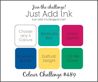 Jo's Stamping Spot - Just Add Ink Challenge #489