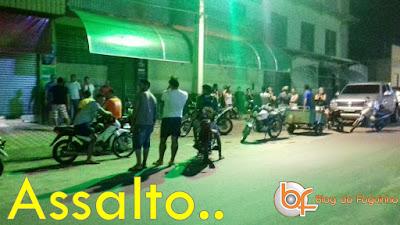 Homens fortemente armados fazem assalto em Supermercado e Casa Lotérica em Brejo.