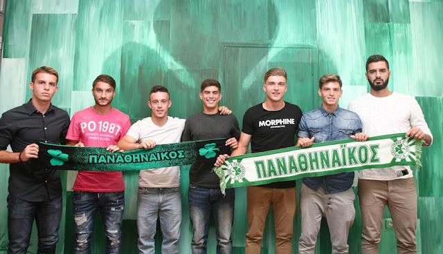 Επτά νεαροί ποδοσφαιριστές υπέγραψαν σήμερα επαγγελματικά συμβόλαια με τον Παναθηναϊκό