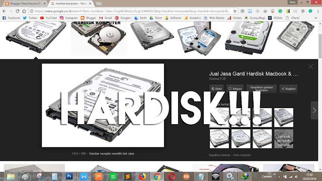 Hardisk mengalami kerusakan