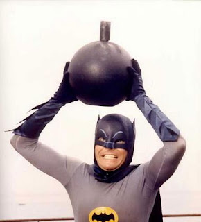 Adam West as Batman the bomb scene