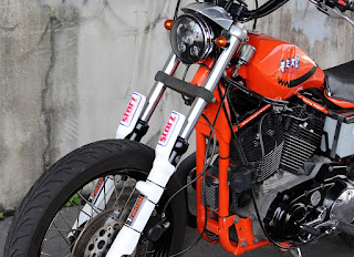 sportster street tracker total orange front end