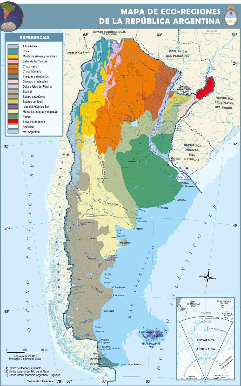 Aves de argentina ecorregiones for Ministerio del interior ubicacion mapa