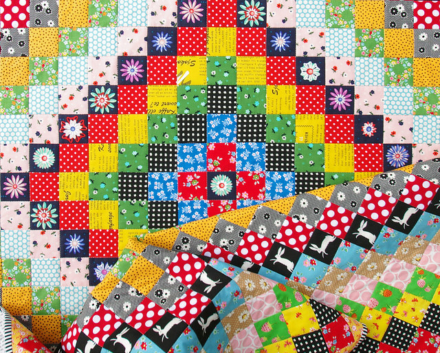 A Giant Granny Square Quilt | Trip Around the World Quilt | Red Pepper Quilts 2016