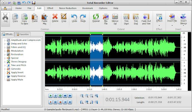 برنامج تسجيل الصوت للكمبيوتر Total Recorder Editor مجانا
