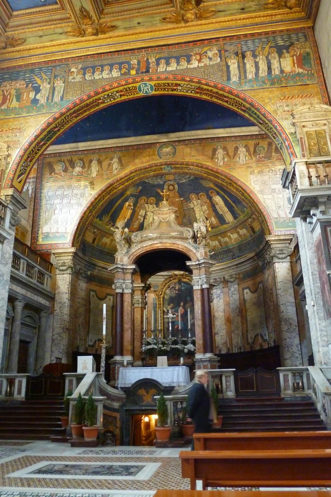 Basilica Santa Prassede ciborio Arco - Basílica de Santa Prassede